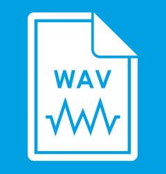 File wav icon white vector