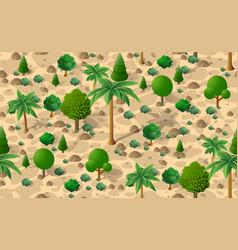 forest desert pattern seamless background vector image