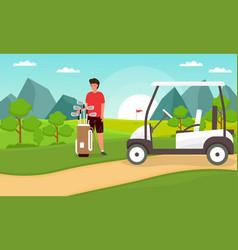 Golfing concept vector