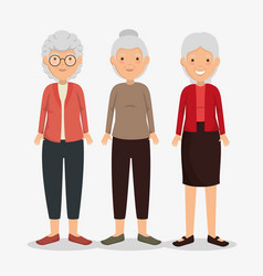 group of granmothers characters vector image