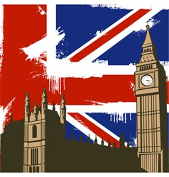 Grunge British Background vector image vector image