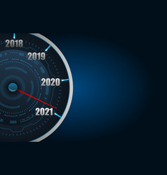 Happy new year 2021 in form car speedometer vector