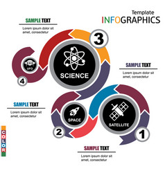 infographic template science technology vector image