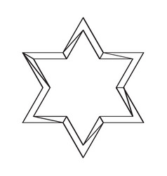 isolated golden jewish star icon vector image