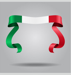 Italian flag wavy ribbon background vector