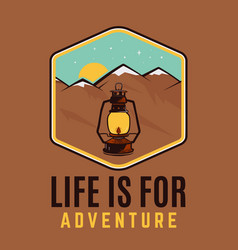 Life is for adventure logo retro camping vector