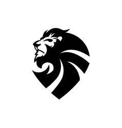 Lion and sheild logo template vector