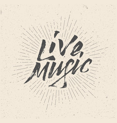 live music sign badge logo poster flyer vector image