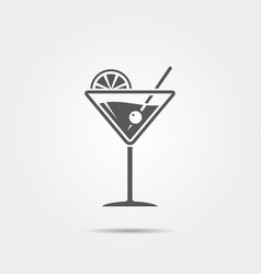 martini glass icon vector image
