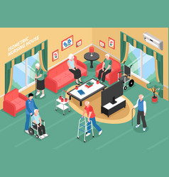 Nursing home isometric vector