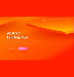 orange abstract geometric shape landing page vector image