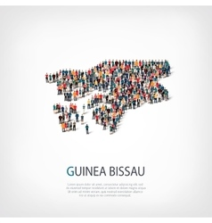 People map country Guinea Bissau vector