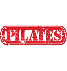 Pilates stamp vector