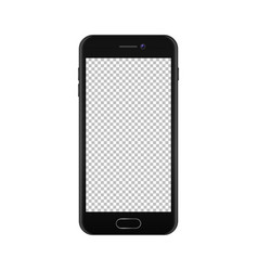 realistic smartphone icon isolated on white vector image