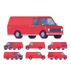 red van set vector image