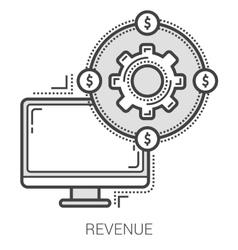 Revenue line icons vector image