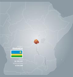 rwanda information map vector image