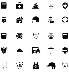 Safety icon set vector