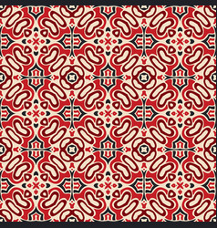 seamless pattern mosaic tile persian carpet vector image
