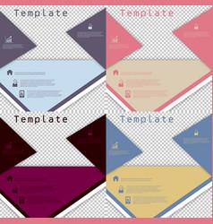Set of brochure cover design fancy info banner vector