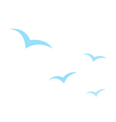 silhouettes birds icon flat isolated vector image