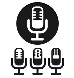 simple microphone icons vector image