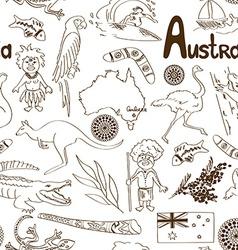 Sketch australia seamless pattern vector