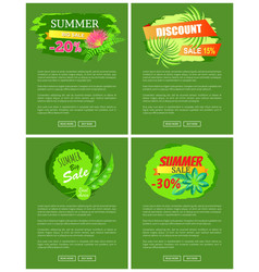 summer sale collection of web vector image