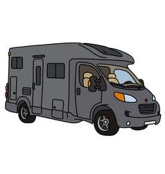 The dark gray caravan vector