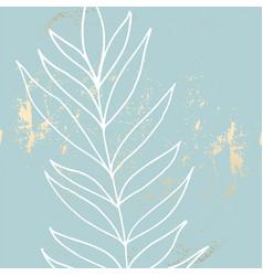 tropical worn floral pastel blue blush gold vector image