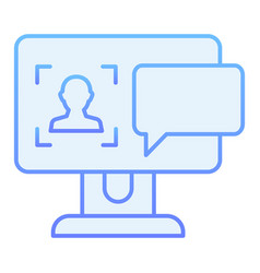 user on computer monitor flat icon authorization vector image