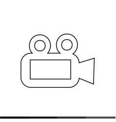 video camera icon design vector image