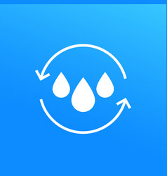 Water recycling icon vector