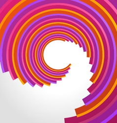 Abstract 3d circle rings backgound vector image vector image