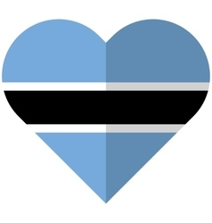 Botswana flat heart flag vector image vector image