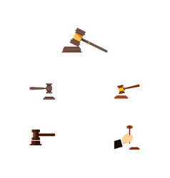flat icon court set of legal court law and other vector image vector image