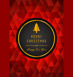 golden merry christmas and happy new year with vector image vector image