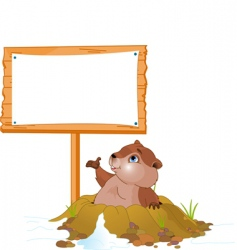 groundhog day billboard vector image