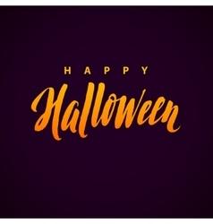 Happy Halloween Background with Hand vector image vector image
