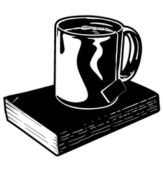 Mug of Tea and Book vector image