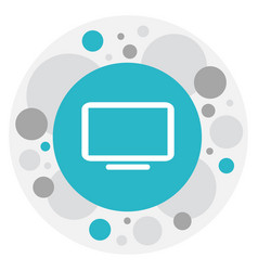 of gadget symbol on telly icon vector image