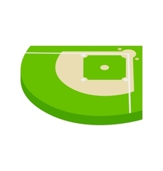 Baseball aield isometric 3d icon vector image
