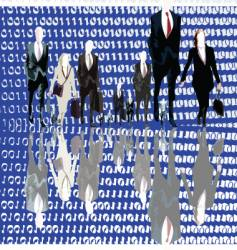 binary business vector image vector image