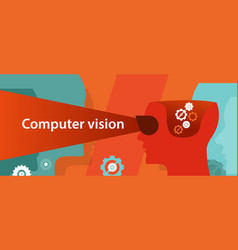 computer vision technology digital vector image vector image