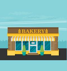 facade of bakery flat vector image