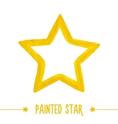 Painted star vector image vector image