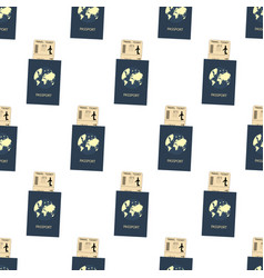 passport and ticket pattern vector image