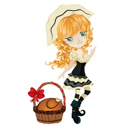 Pilgrim Girl vector image