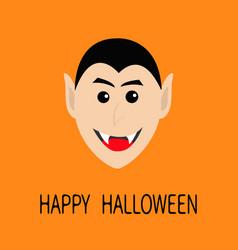 count dracula head smiling face cute cartoon vector image
