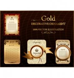 gold vintage label decorative ornament vector image